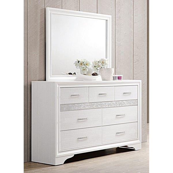 Silver Orchid Battista Rhinestone 6-piece Storage Bedroom ...
