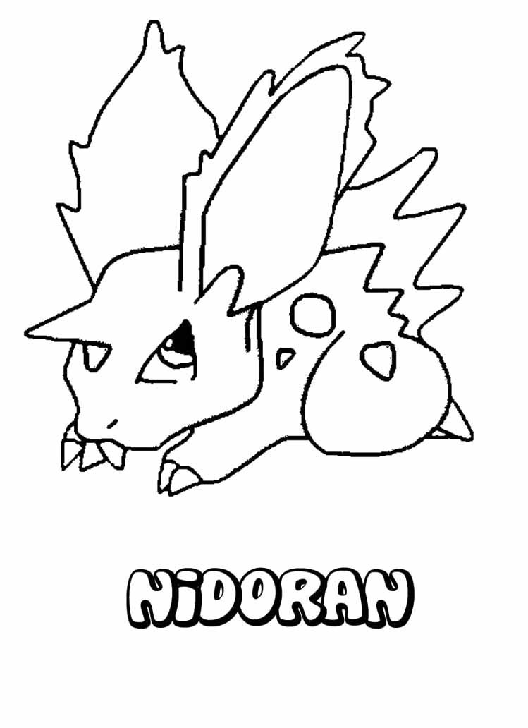 Pokemon Nidoran Coloring Page Coloring Pages Coloring Pages For Kids Pokemon Coloring Pages