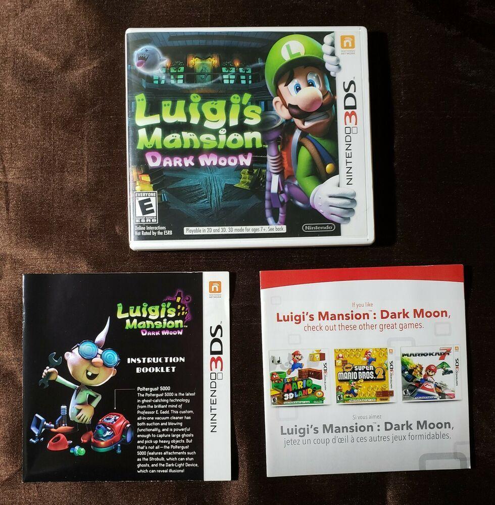 Replacement Case And Manual No Game Luigi S Mansion Dark
