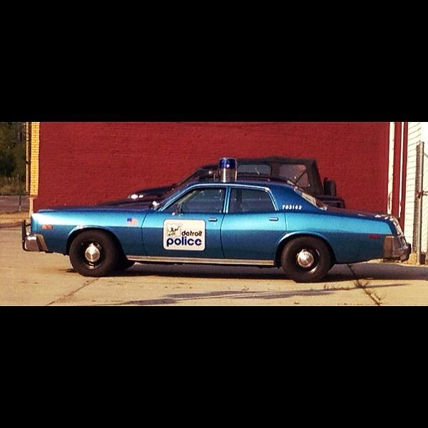 Detroit Police Car. This Same Type Of Car That Was Used In