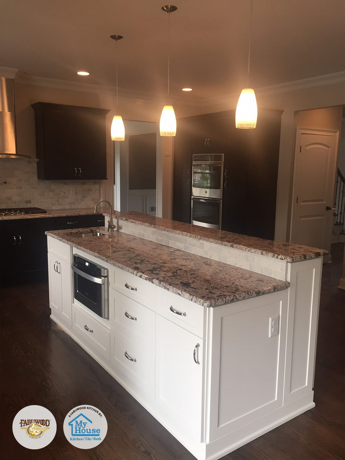 Wonderful Fabuwood Galaxy Espresso And Frost #kitchen Built By My House Kitchen Tile  And Bath Located In Union, NJ Designer: Bora