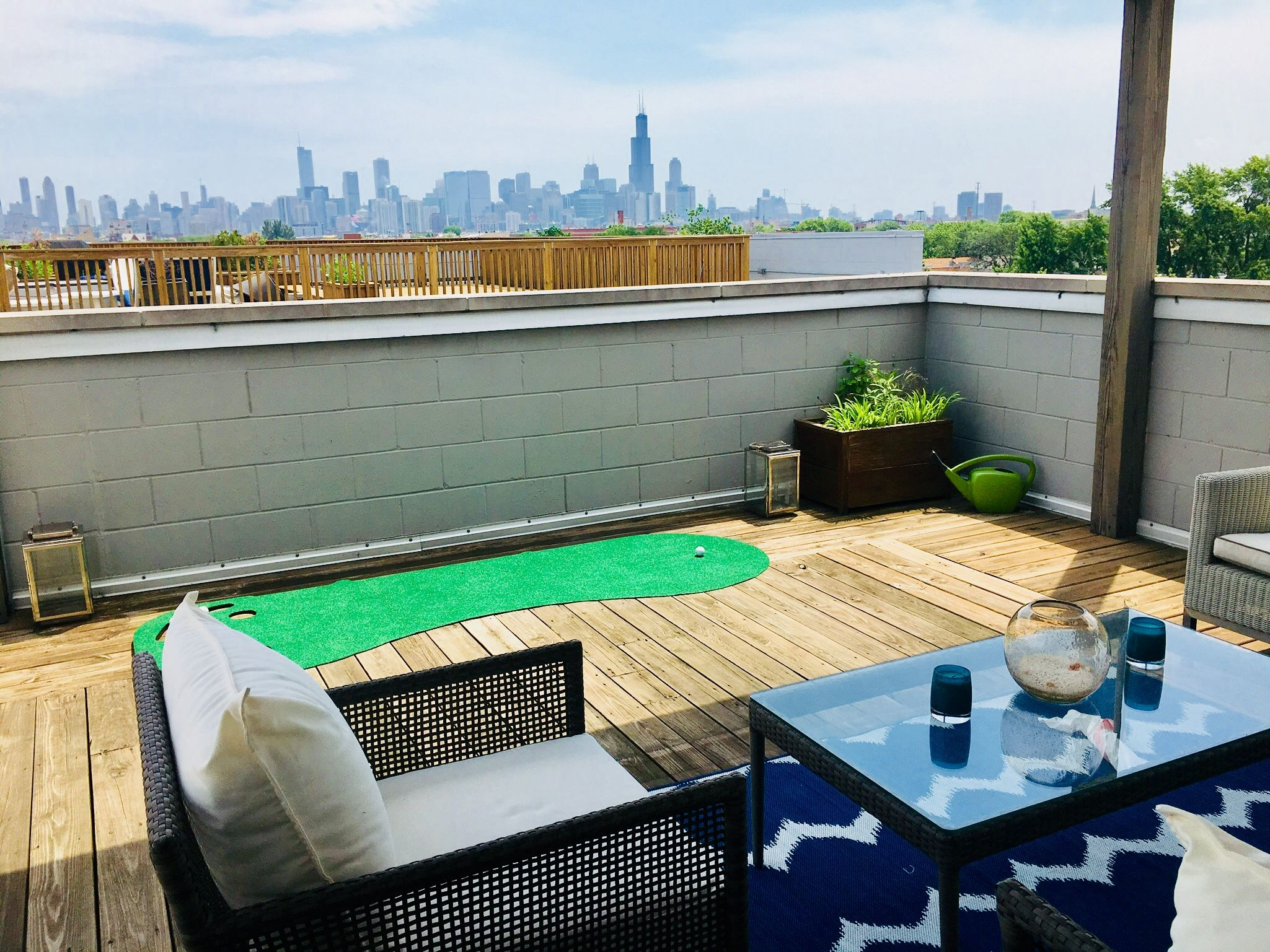 Modern Rooftop Deck In Ukrainian Village Chicago With City Views