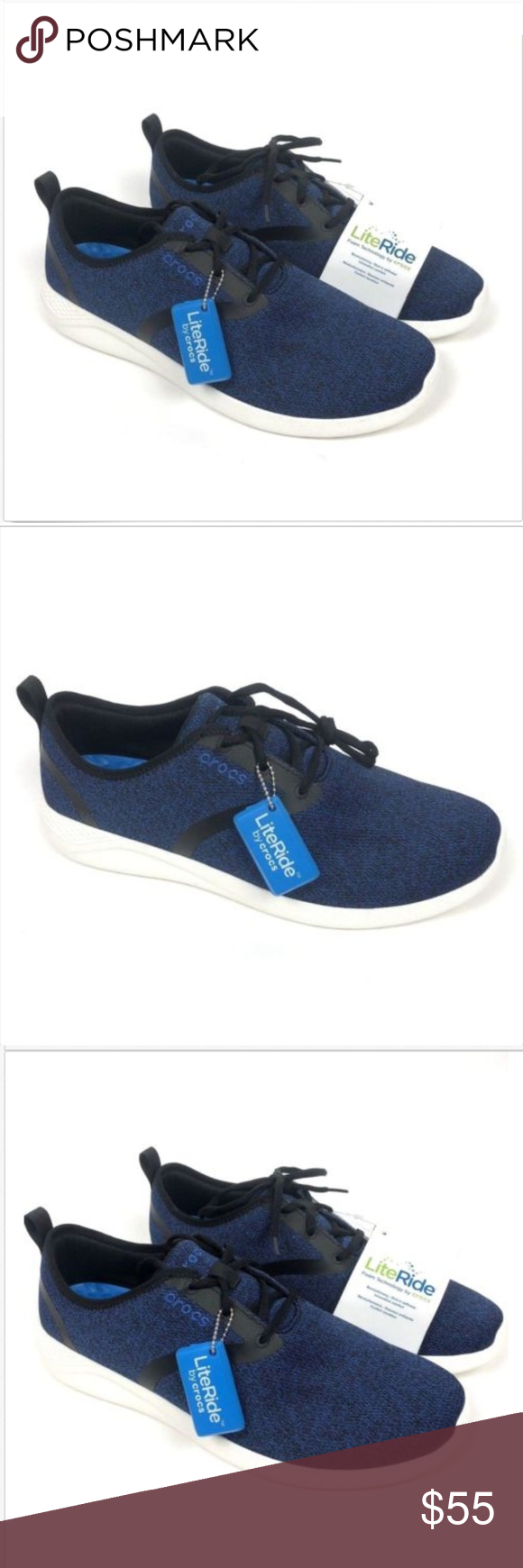 NEW Crocs LiteRide Lace Up Sneakers