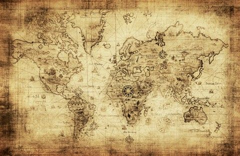 Stare mapy wiata szukaj w google decupage pinterest tattoo shop arty vintage old world map print created by handprints personalise it with photos text or purchase as is gumiabroncs Images