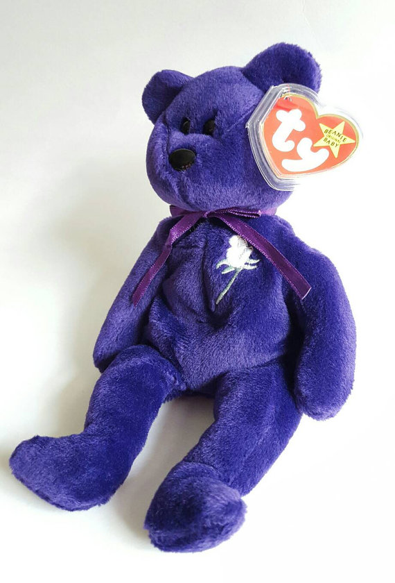 575be1bbfbf RARE 1997 TY Princess Diana Beanie Baby