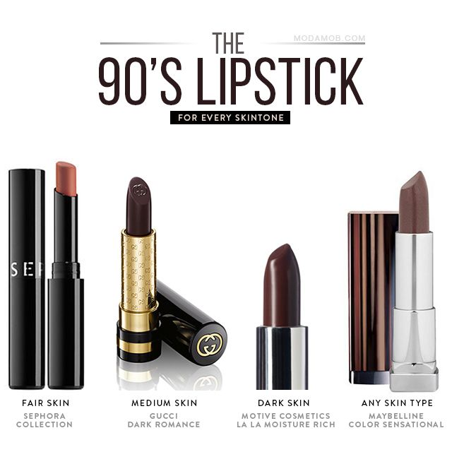 Brown Lipstick Is Back 90s 90s Lipstick Lipstick Cosmetic