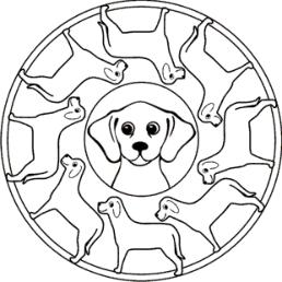 hunde-mandala zum ausmalen   mandala   pinterest   mandala zum ausmalen, ausmalen und hunde