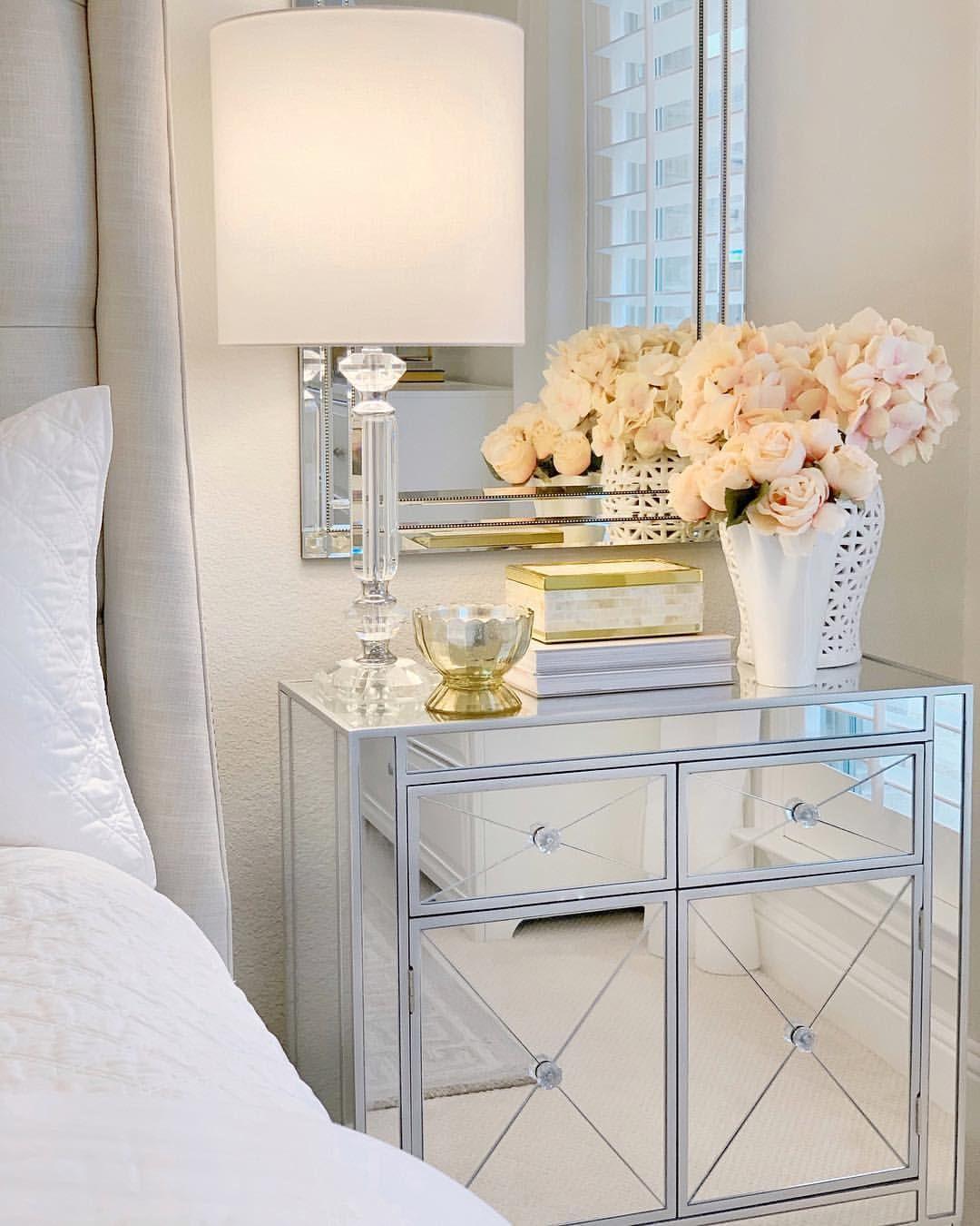 Mirrored Nightstands Thedecordiet Glam Bedroom Bedroom