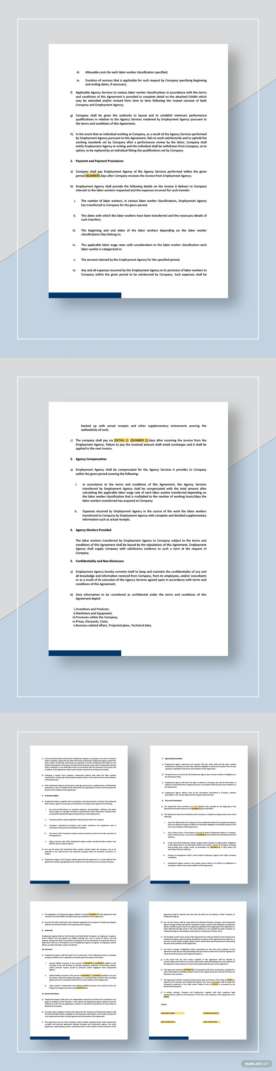 Employment Agency Agreement Template Free Pdf Word Apple Pages Google Docs Outlook Rental Agreement Templates Templates Operations Management