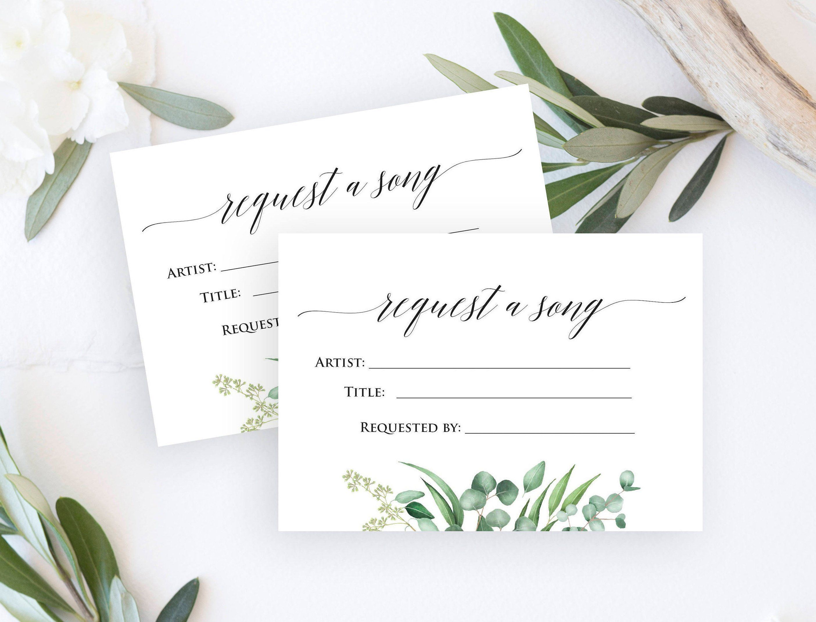 Wedding RSVP with Song Request, Printable Song Request