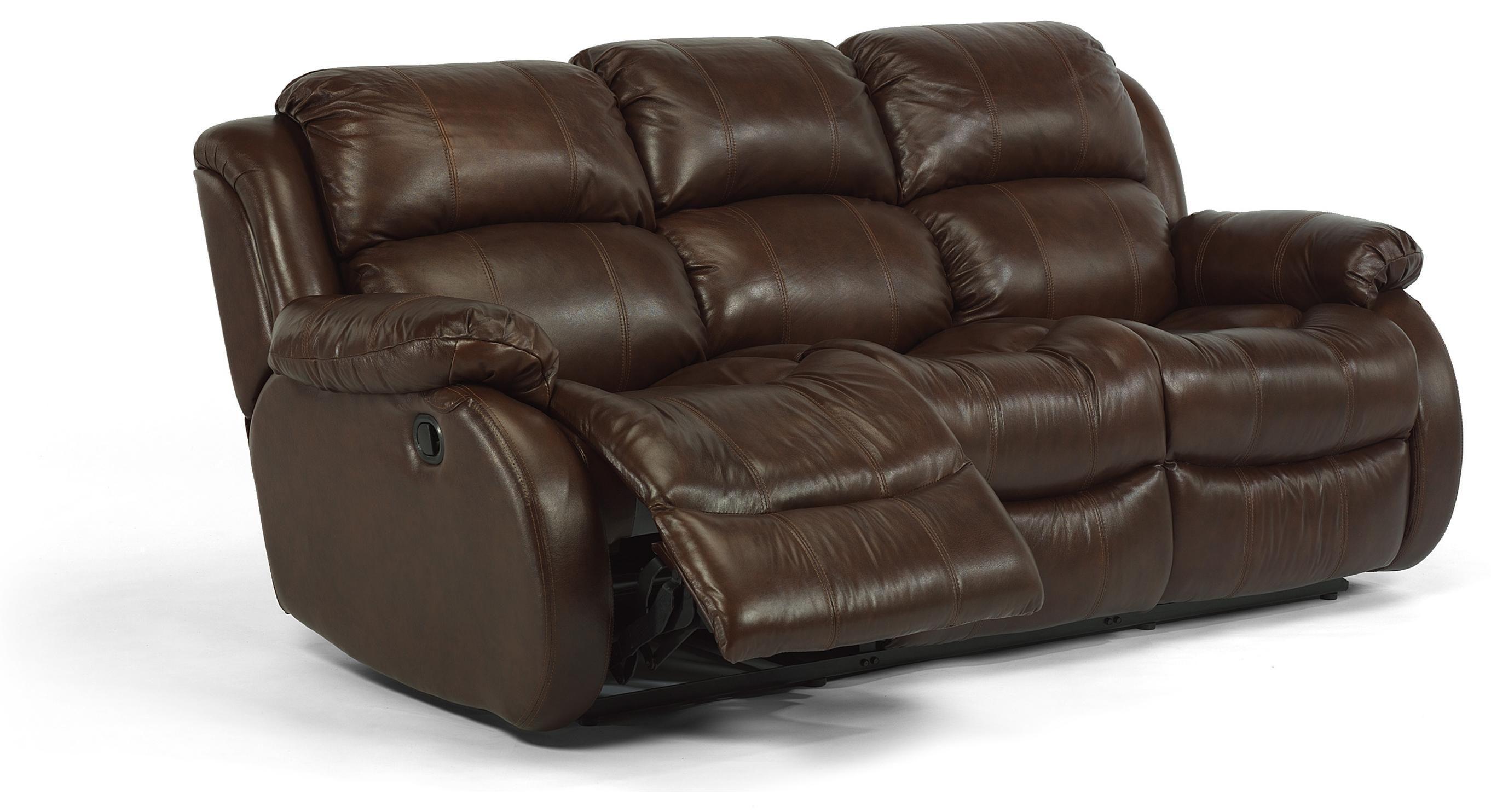 Flexsteel Furniture Latitudes Leather Collection Featuring 3 Seat