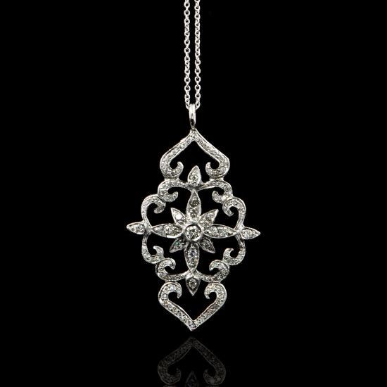 Diamond Pendant Necklace | Perry's Fine Antique & Estate Jewelry
