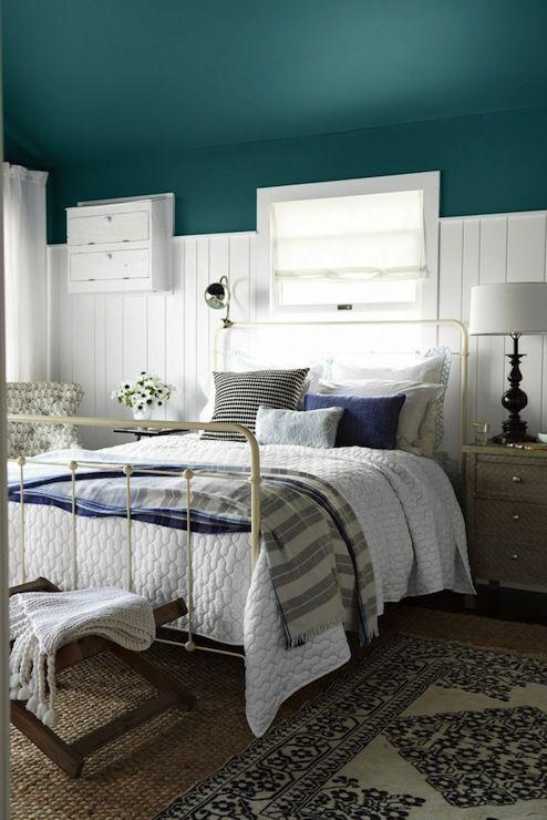 Country Living Bedrooms Benjamin Moore Oasis Blue Peacock