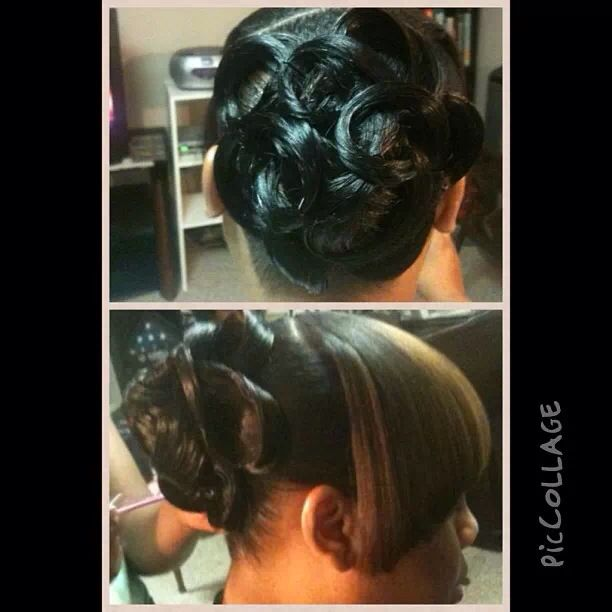 Awesome Pin Curl Ponytail My Hair Creations Pinterest Pin Curls And Hairstyles For Women Draintrainus
