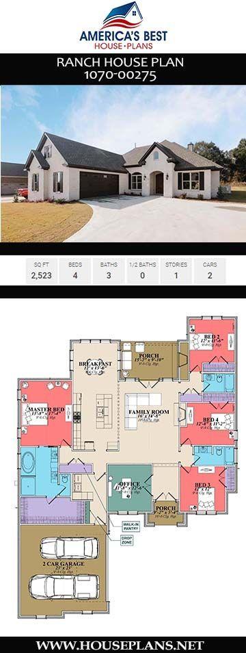 Ranch House Plan 107000275