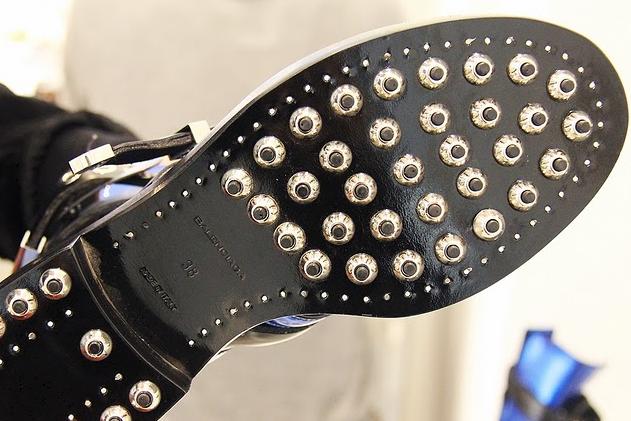 Balenciaga, biker cut out boots,