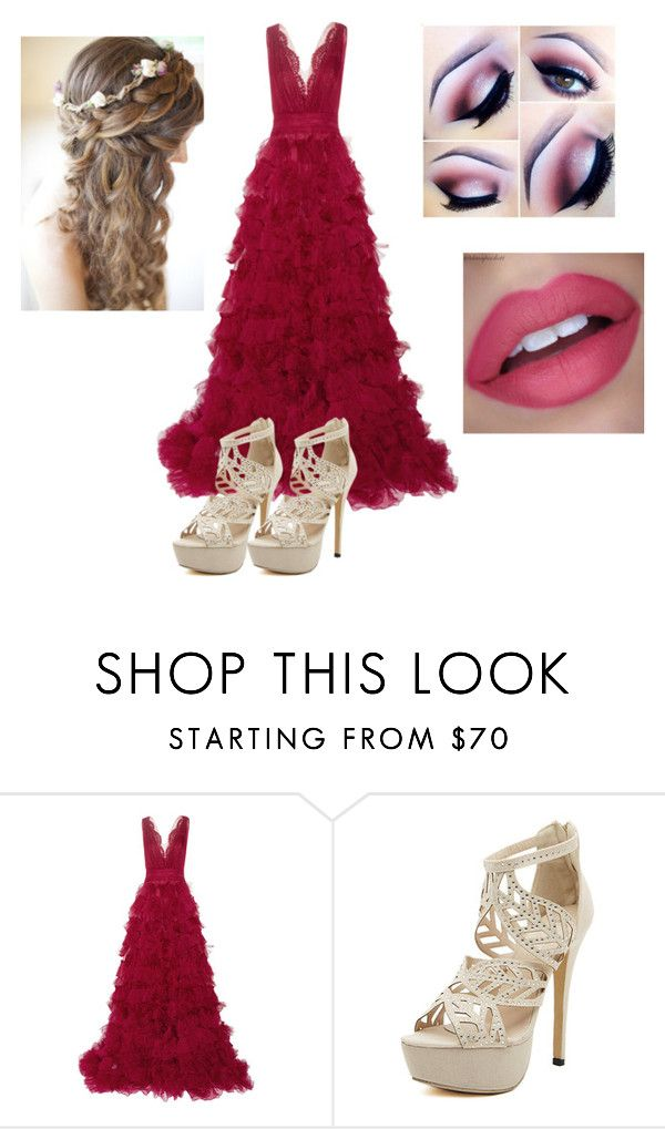 """""""Unconditionally"""" by rafah-0lliver ❤ liked on Polyvore featuring Marchesa"""