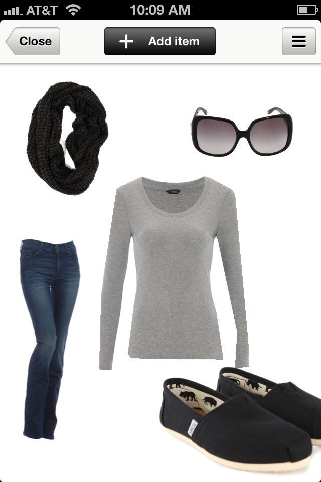 Pretty much my style on a daily basis!   Just discovered Polyvore!  Great, another addiction...