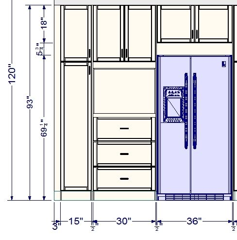 tall kitchen cabinets sizes roselawnlutheran. Black Bedroom Furniture Sets. Home Design Ideas