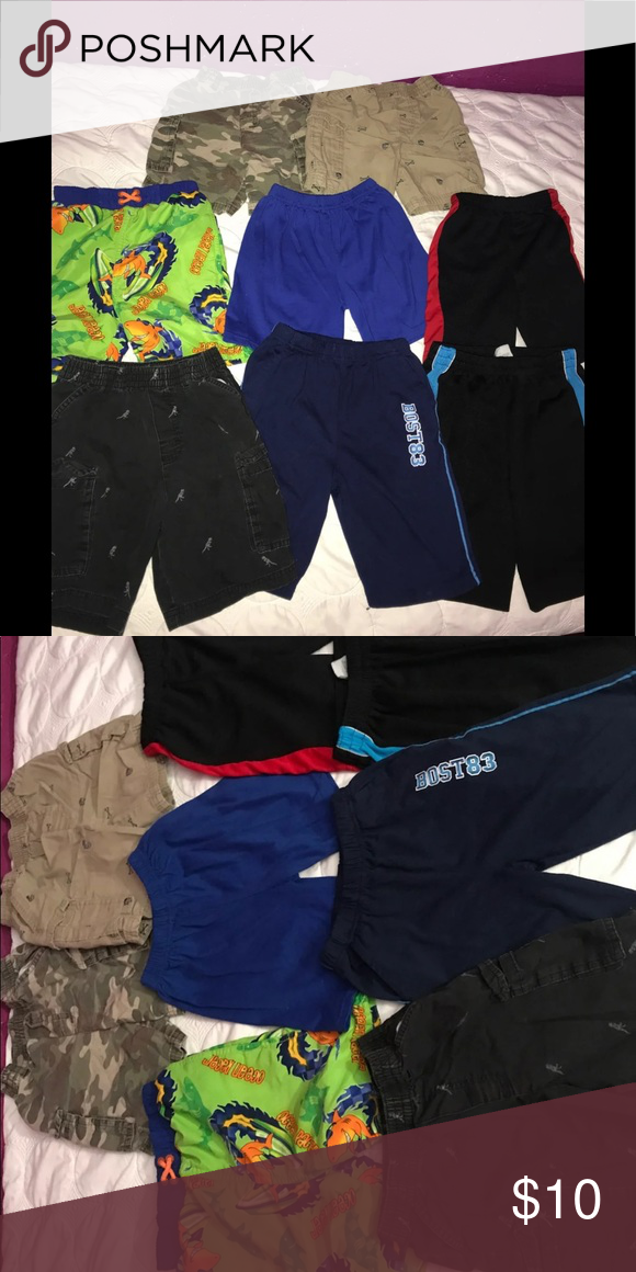 e63b386194 Boy shorts bundle 8 pair of shorts (includes cargo short, swim short, and  basketball shorts) *TOP ROW-3T *MIDDLE ROW-4T *BOTTOM ROW-size 5T, 6 and 7  Some of ...