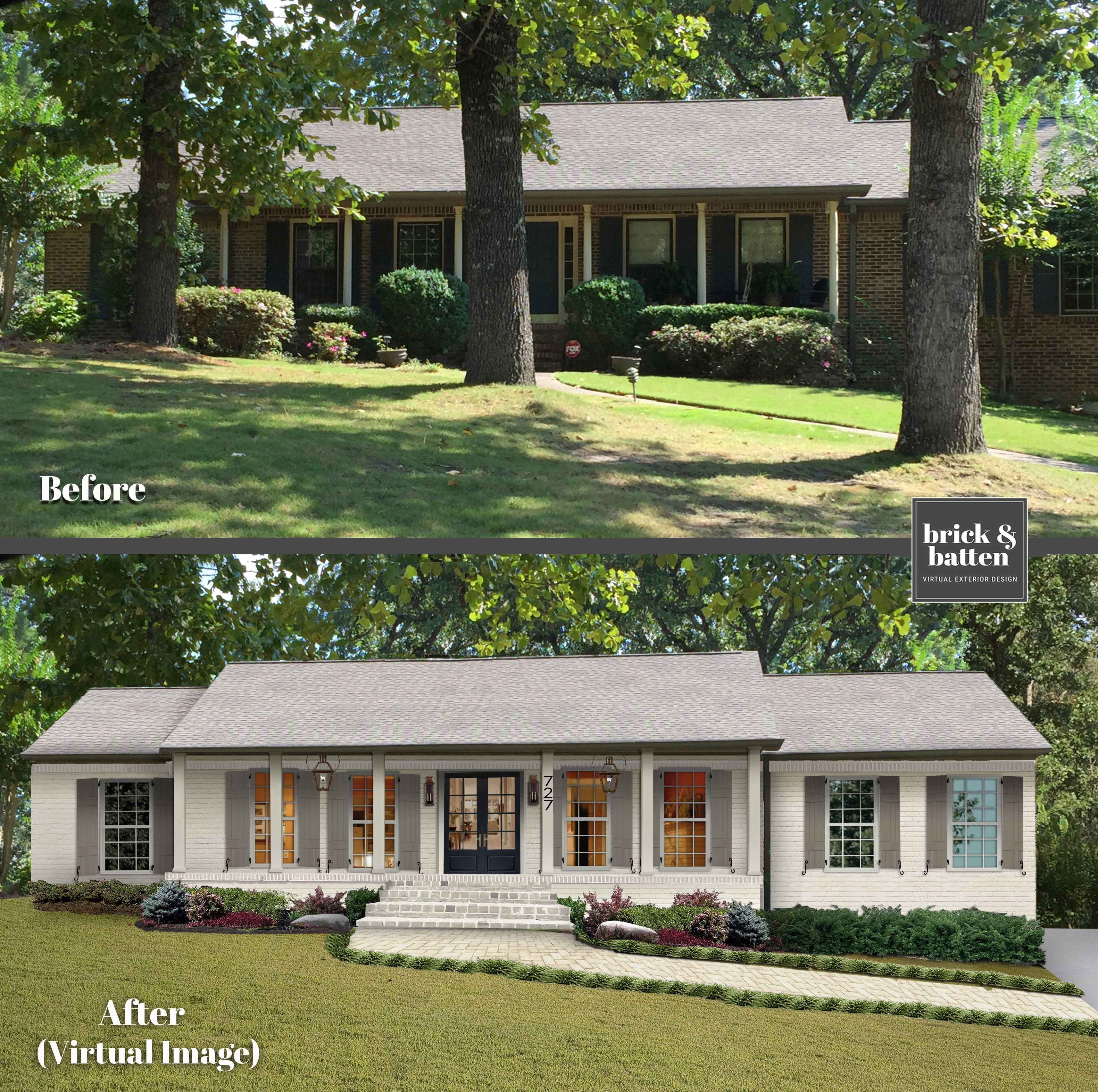 18 Predictions For 2020 Exterior Home Design Blog Brick Batten Brick Exterior House Painted Brick House Ranch House Exterior