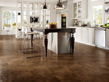 armstrong flooring    this modern kitchen clicks with its industrial accents and classic monochromatic color scheme  the vinyl this modern kitchen clicks with its industrial accents and classic      rh   pinterest com