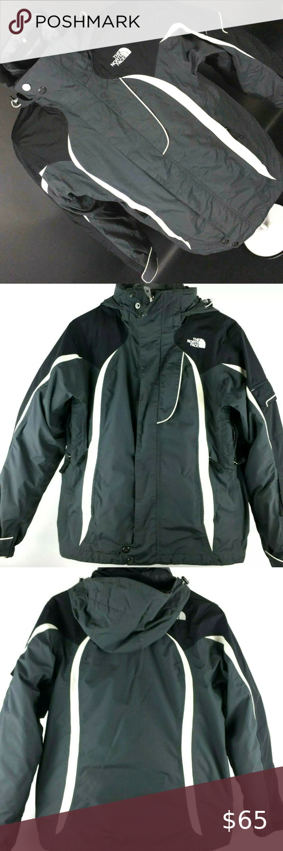 The North Face Womens Hyvent 2 In 1 Jacket Coat North Face Women Black North Face North Face Jacket [ 1740 x 580 Pixel ]