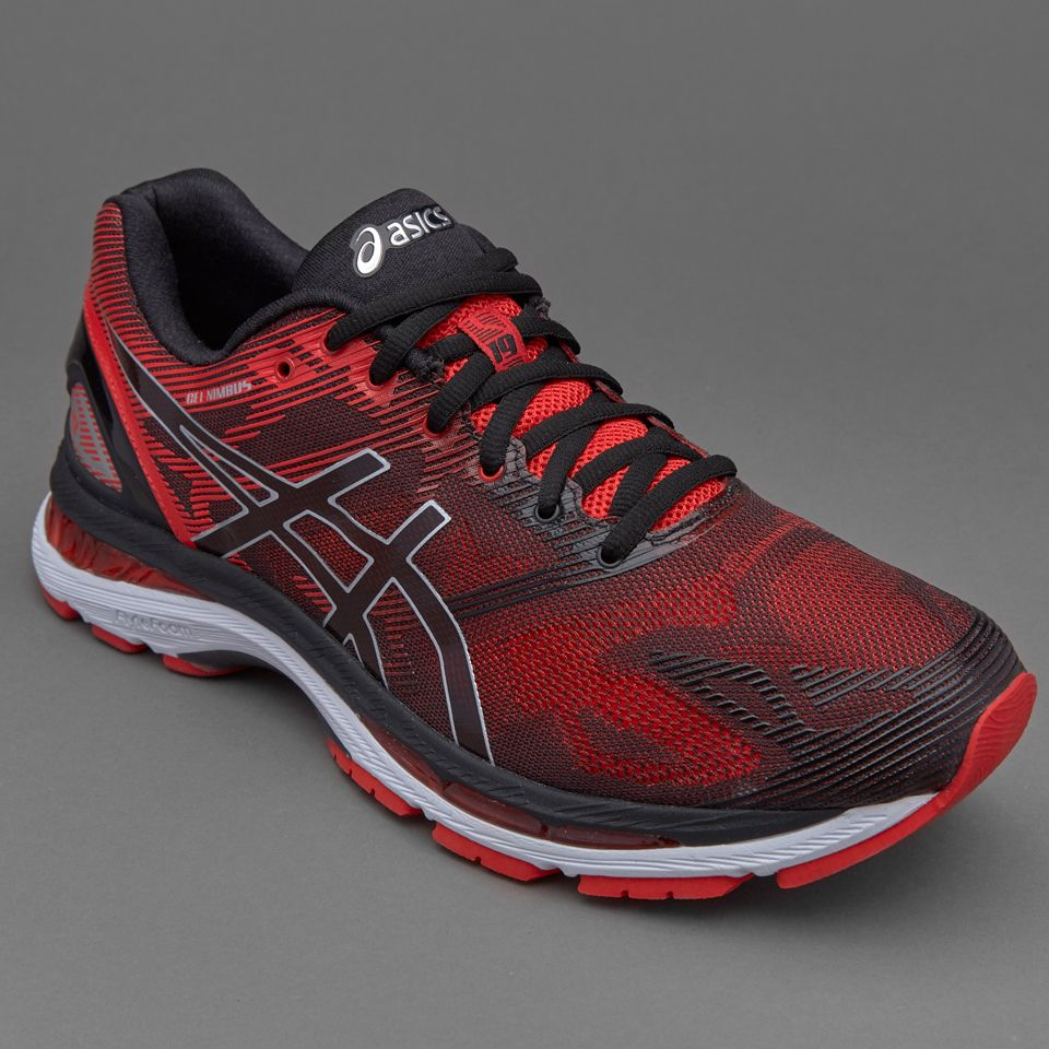 Asics Gel-Nimbus 19 - Black/Vermilion/Silver - Mens Shoes - T700N-9023