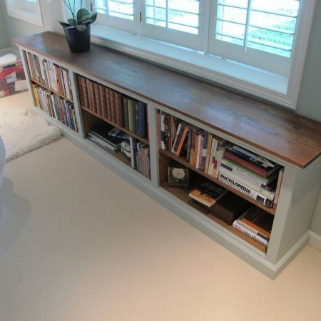 bookshelves long low - Google Search - Finding Space: Hallway Bookcases Bed Room, Room And House