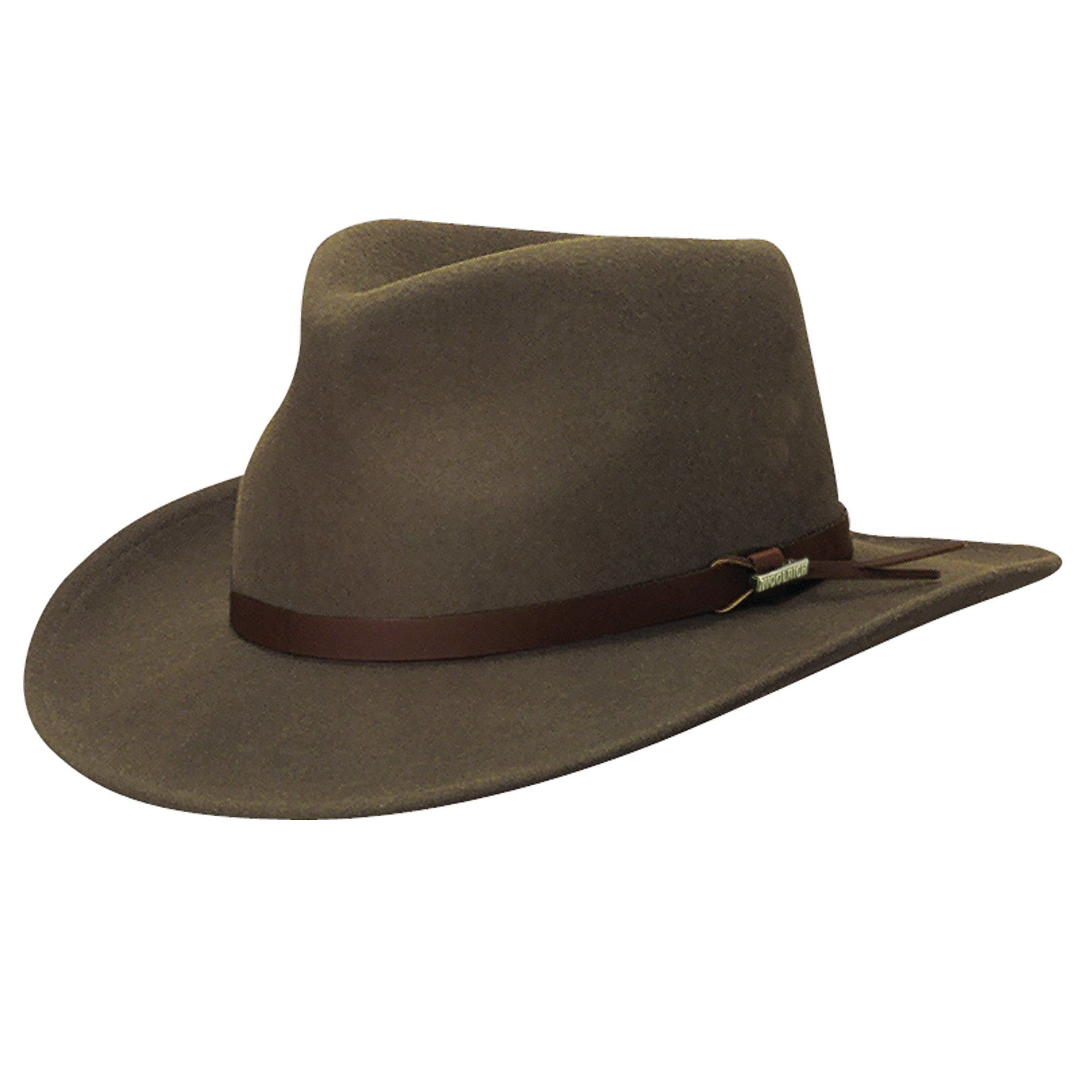 Woolrich Mens Crushable Water Repellent Wool Felt Safari Outback Hat