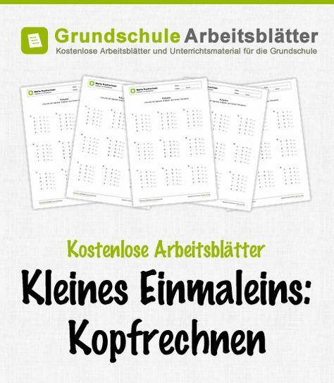 Arbeitsblatt: Kleines 1x1: Kopfrechnen - Gemischte Aufgaben 01   School