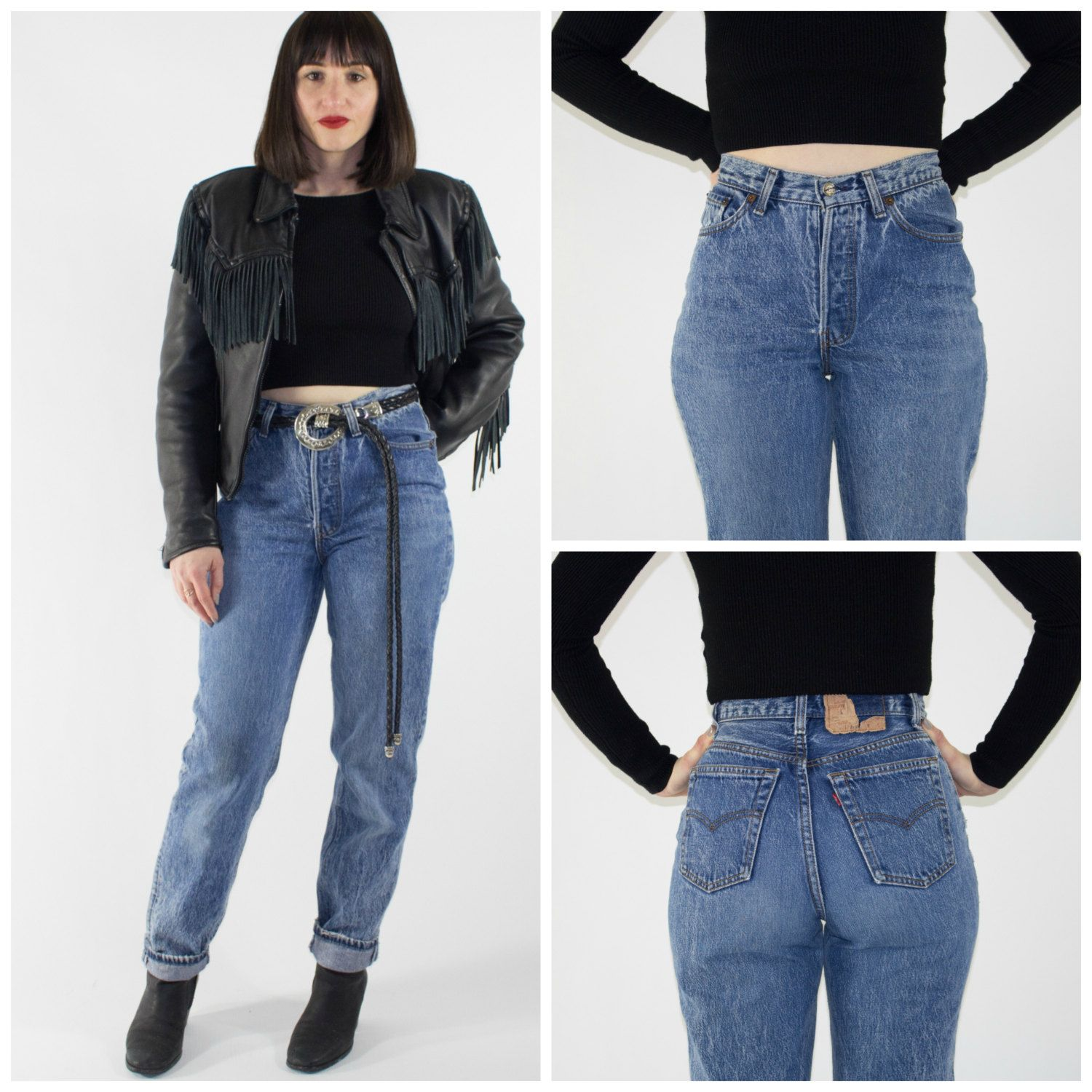 Vintage High Waisted Leviu0026#39;s 501 Jeans | Perfect 90s Denim Pants | Retro Mom Jeans | Grunge ...