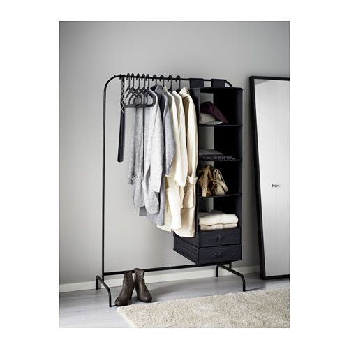 MULIG Klesstativ - svart - IKEA apartment inspiration Pinterest - reglage porte placard ikea