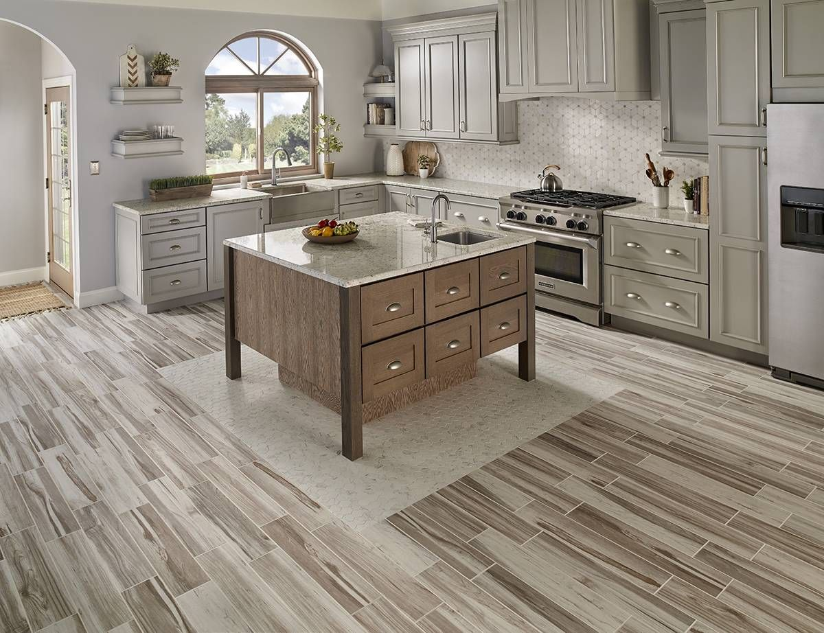 Carolina Timber White ceramic tiles from MSI lend an