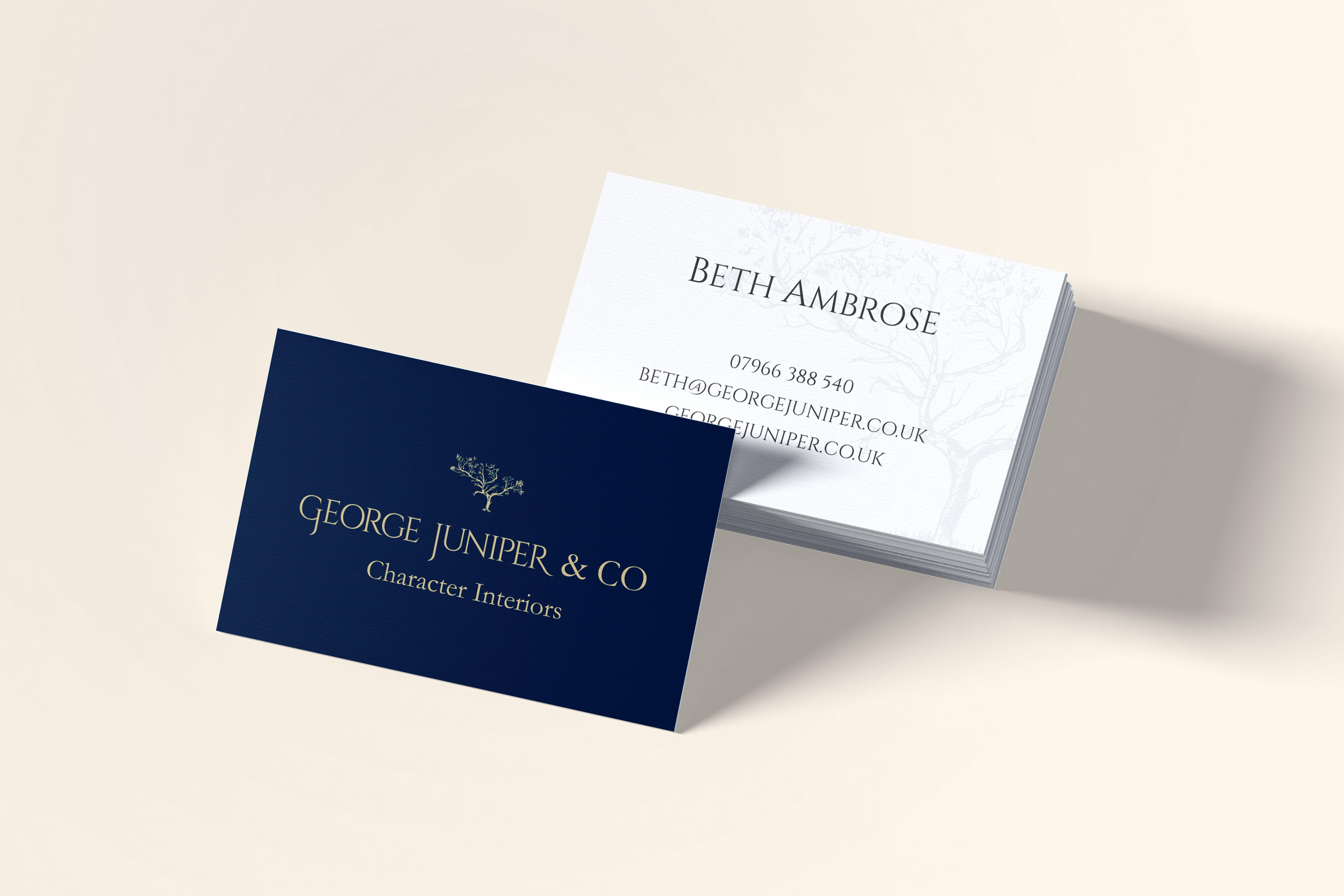George Juniper Co Business Cards Business Card Design Web Design Services Graphic Design Services