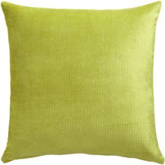 Sari Chartreuse Pillow, $29.95, CB2