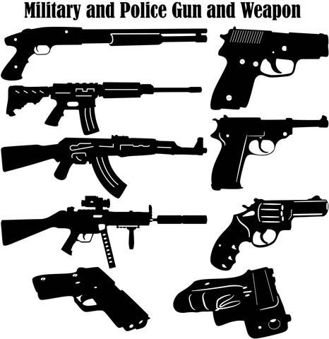 Military and Police Guns and Weapons | DXFforCNC com - DXF