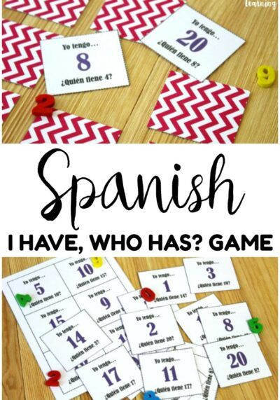 Printable Spanish I Have Who Has Game for Kids - Look! We're Learning!