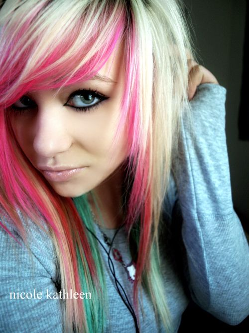 Pin By Kristen Gould On Hair Envy Cool Hair Color Scene Hair Bright Hair