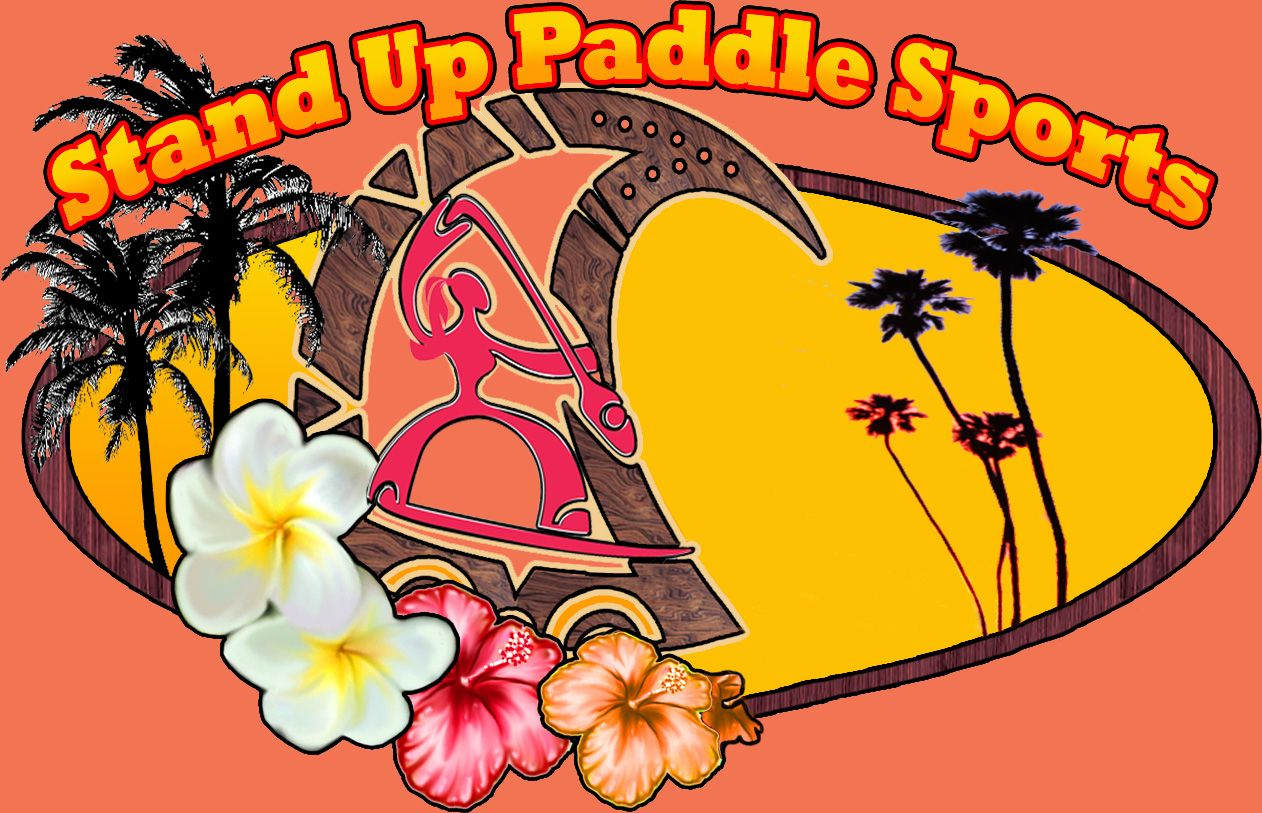 Tropical wahine paddler graphic...