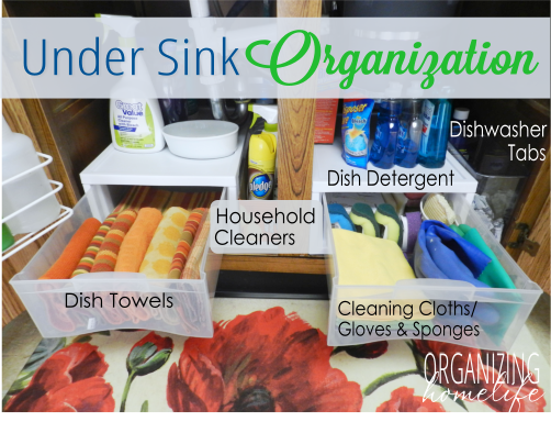 How To Organize Under Your Sink Organize Your Kitchen Frugally Day 2 This Looks So