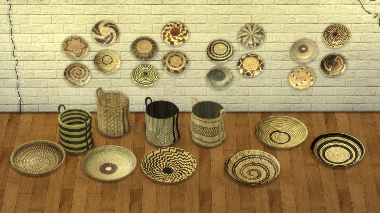 LEO-SIMS • ETHNIC DECO Wall Plates Baskets Credits for Meshes ...