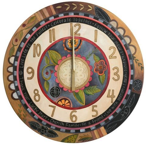 This Amazing Wall Clock, By The Talented Artisans At Sticks, Is Simply  Stunning! With Gorgeous Colors And Grea 8818