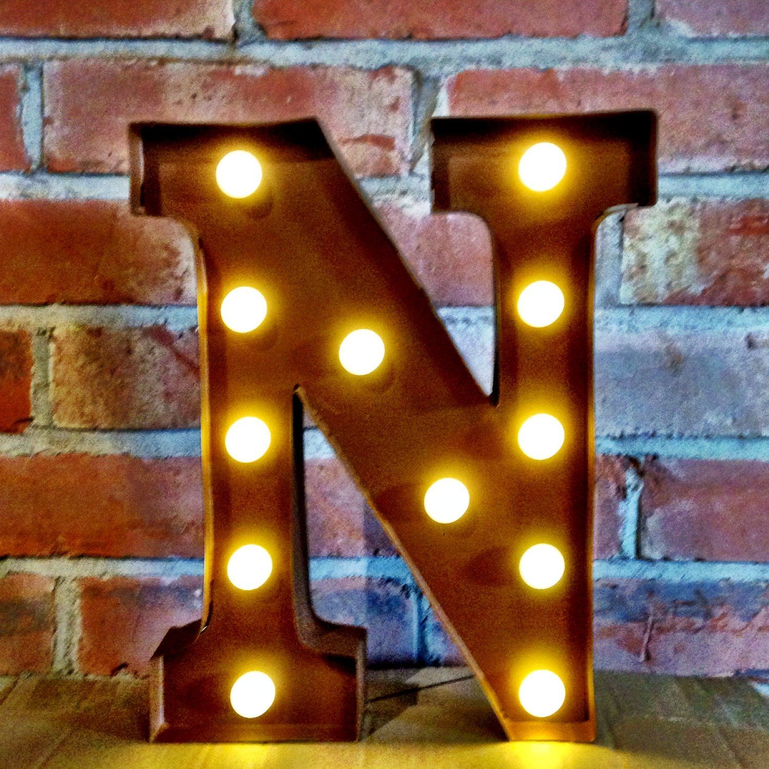 12 Quot Letter N Metal Light Up Led Marquee Letters Alphabet