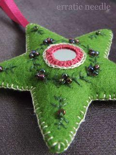 Erratic Needle: a blog of beautiful ideas! I love the felt & stitching pieces...  ~M x  http://erraticneedle.blogspot.co.uk/