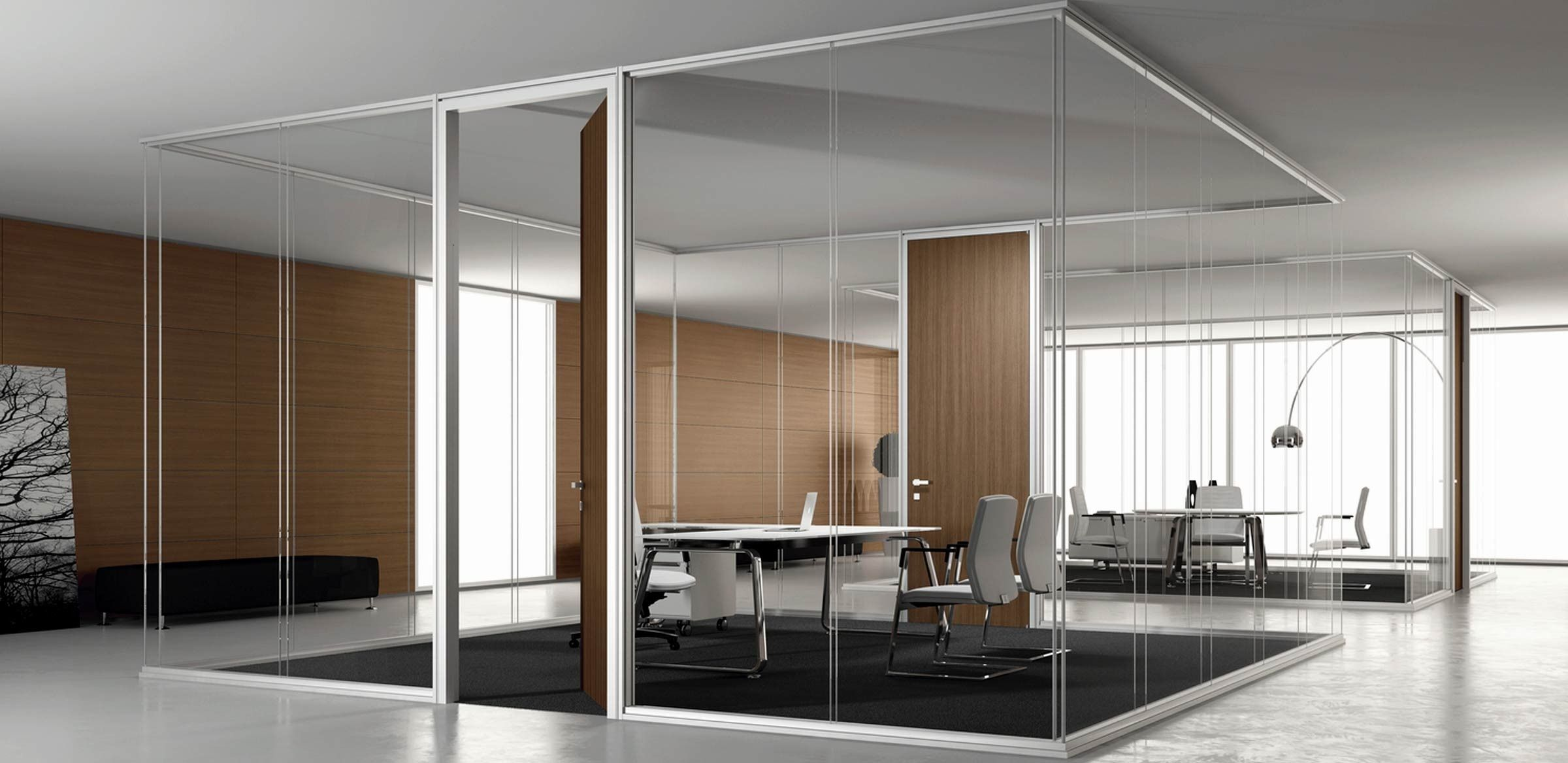 Rainbow SpA new offices glass partition walls and acoustic fort Rubies house of beauty Pinterest