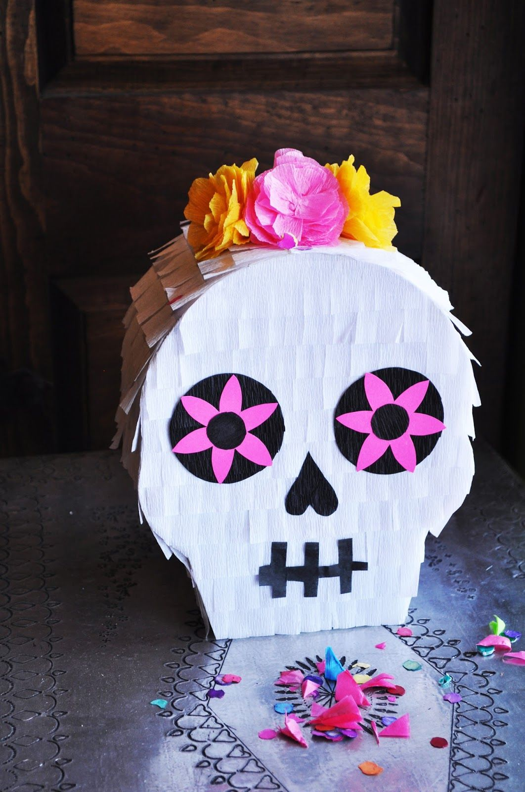Artelexia Day Of The Dead Diy 3 Sugar Skull Piñata Day Of The Dead Diy Day Of The Dead Party Skull Crafts