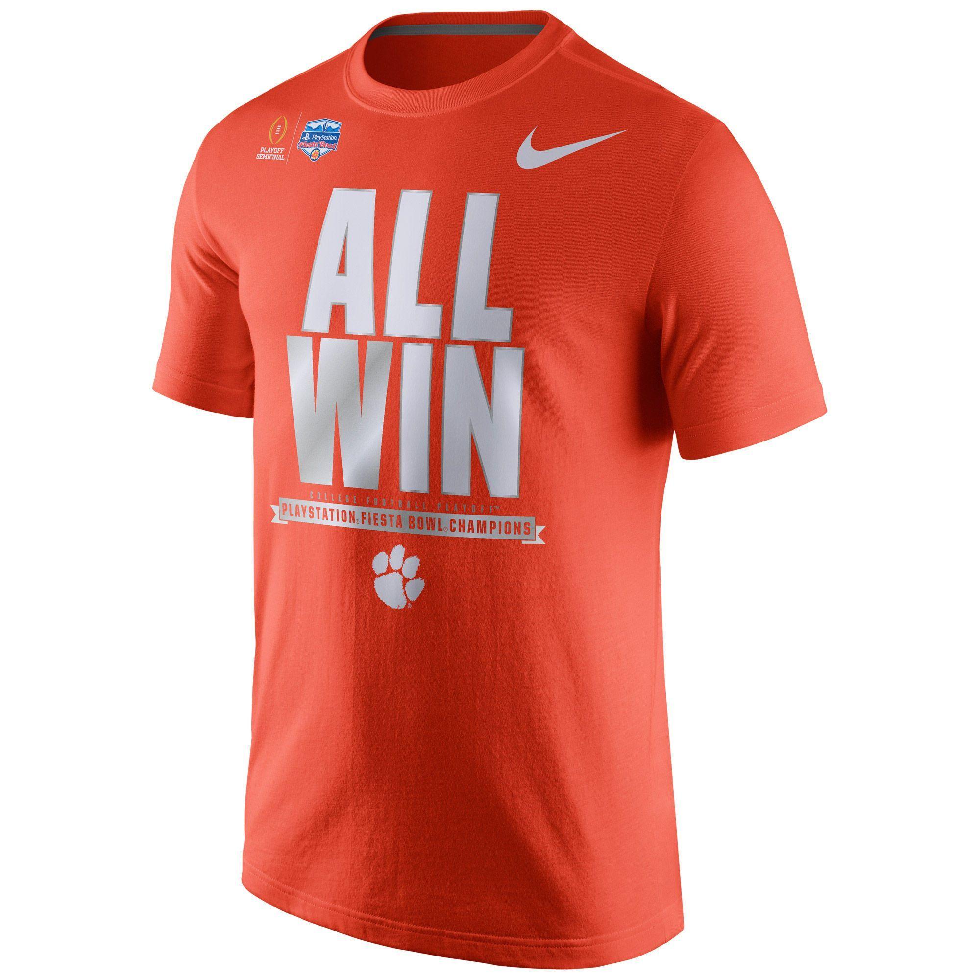 f10aec4c6aa8 Clemson Tigers NIKE NCAA College Football Playoff 2016 Fiesta Bowl Champions  Locker Room T-Shirt