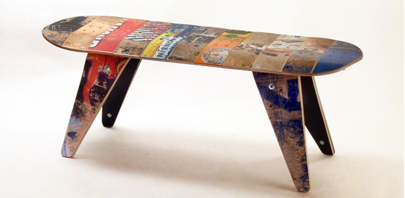 Skateboard Benches Skateboard Furniture Unique Furniture Recycled Skateboards