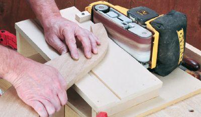 how to build a sanding jig to make your belt sander a. Black Bedroom Furniture Sets. Home Design Ideas